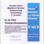 premio relazione con il cliente cittadino 2011 - teleperformance