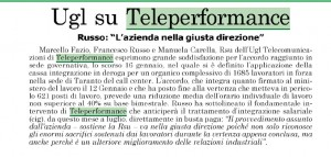 accordo licenzimenti teleperformance