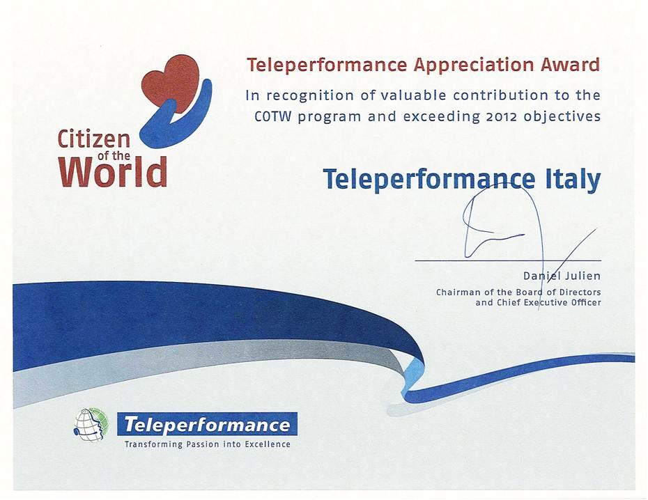 teleperformance italia sociale