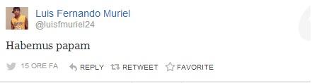profilo twitter di luis muriel calciatore dell'udinese