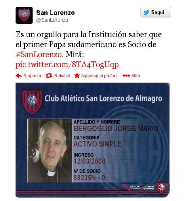 il papa ed il calcio sul web