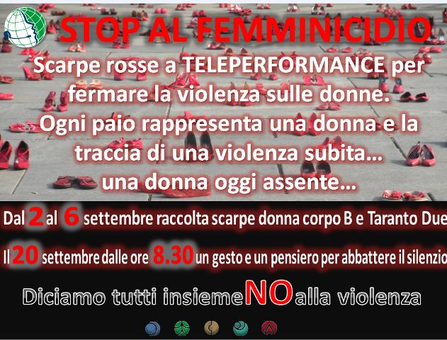 teleperformance contro il femminicidio