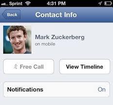 telefonare gratis con Facebook