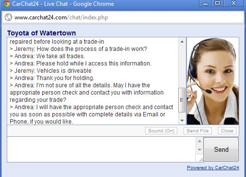 servizio clienti tramite chat