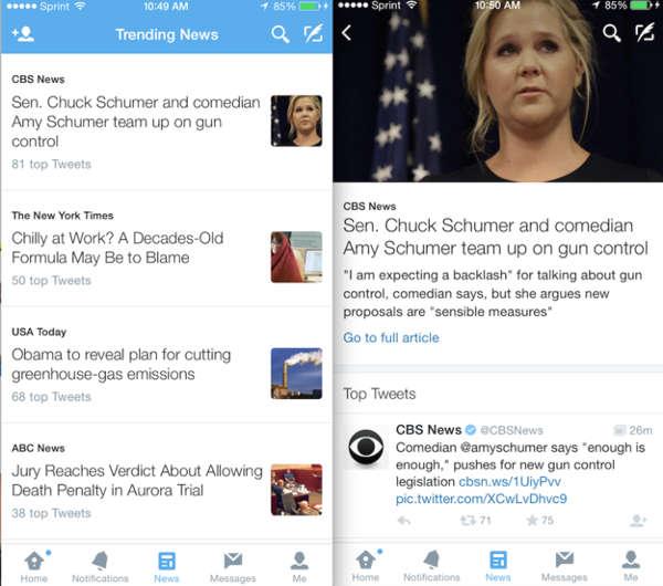 Twitter e le news