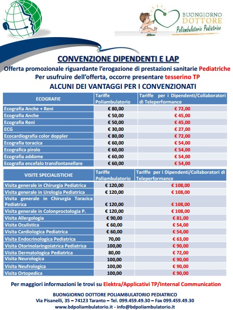 convenzione poliambulatorio Teleperformance