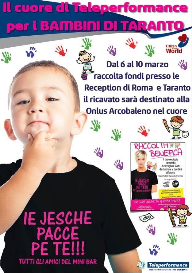 roccolta fondi per i bambini di Taranto